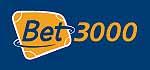 Bet 3000 Logo, orange und blaue Kernfarben