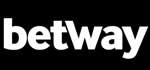 betway Logo, weiße Schrift auf schwarzem Grund