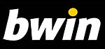 Bwin Logo, weiße Schrift auf schwarzem Grund