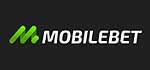 MobileBet Logo, weiße Schrift auf schwarzem Grund