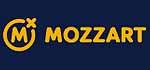 Mozzart Logo, gelb auf blau