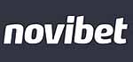 novibet Logo - weiß auf dunkelblau