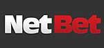 NetBet Logo, rot/weiß auf schwarzem Grund