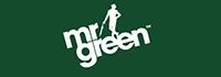 MrGreen Logo, weiß auf grün
